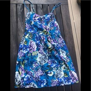 Xhiliration Blue Floral Sundress